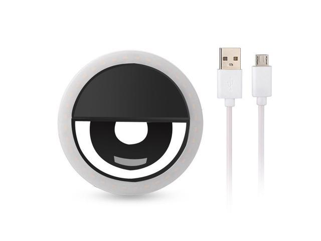 Rechargeable USB Charge with USB Charge Selfie Portable LED Ring Fill Light Camera