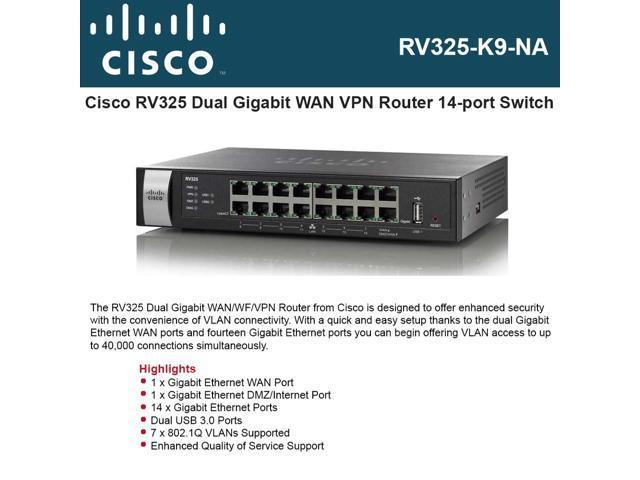 Cisco Rv325 Dual Gigabit Wan Wf Vpn Router Cisco