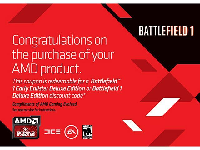 AMD Gift - Coupon Code for Battlefield 1 Early Enlister Deluxe Edition or Battlefield 1 Deluxe Edition discount code