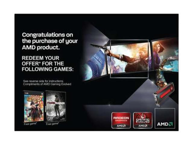 AMD Gift FARCRY3 Blood Dragon BIOSHOCK TOMB RAIDER