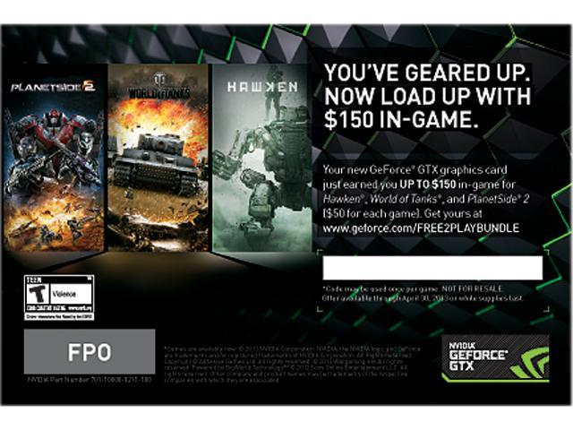 NVIDIA $150 value in-game coin coupon