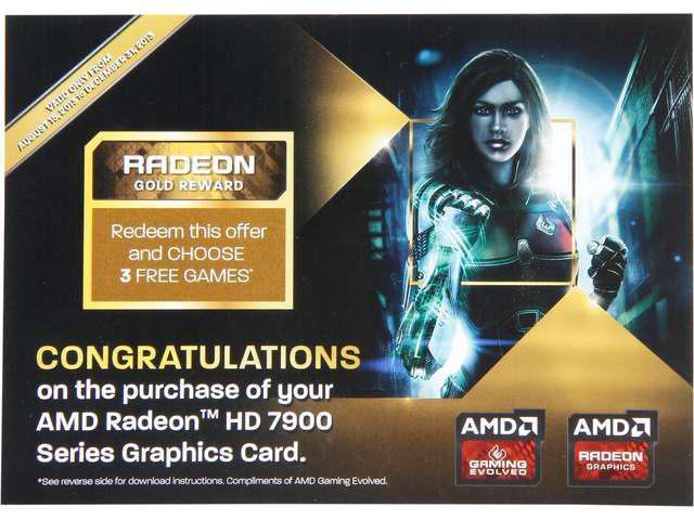 AMD GIFT- RADEON GOLD REWARD for THREE FREE