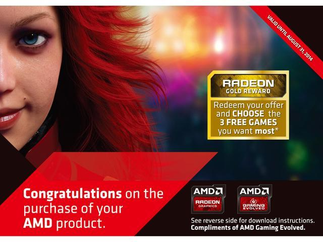 AMD GIFT- GOLD 3 GAMES 2014 (Up to $150 Retail Value)