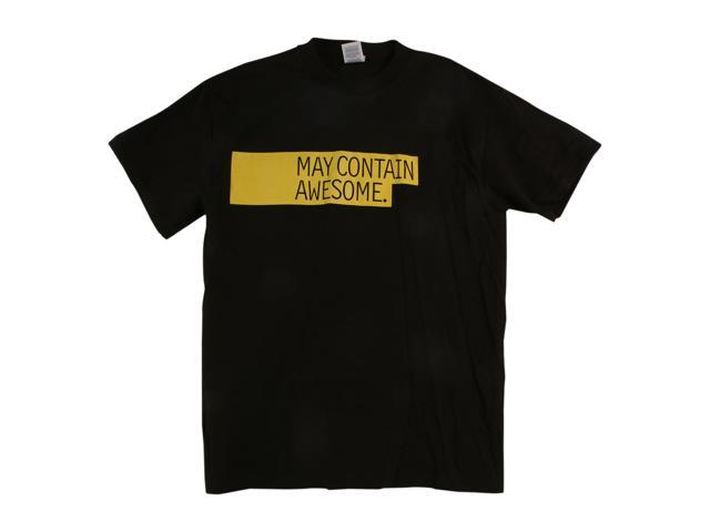 May Contain Awesome Black T-Shirt Medium