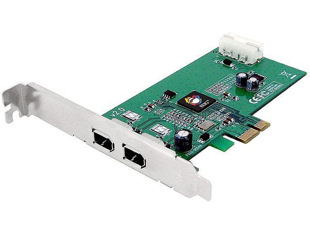 SIIG FireWire 1394a 2-Port PCIe Card, Model NN-E20012-S2