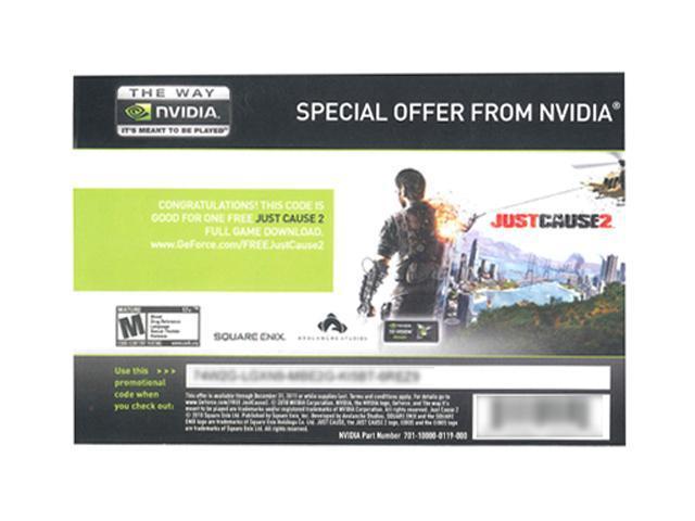 NVIDIA Free Just Cause 2 + Mafia II Coupon