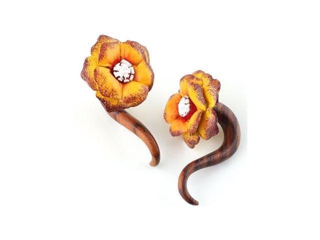 """Organic Flower Ear Plug - 1/2"""""""