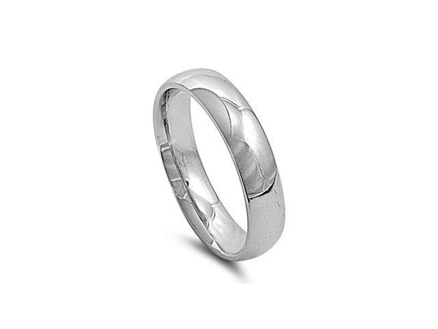 Stainless Steel Wedding Band Ring - Comfort Fit