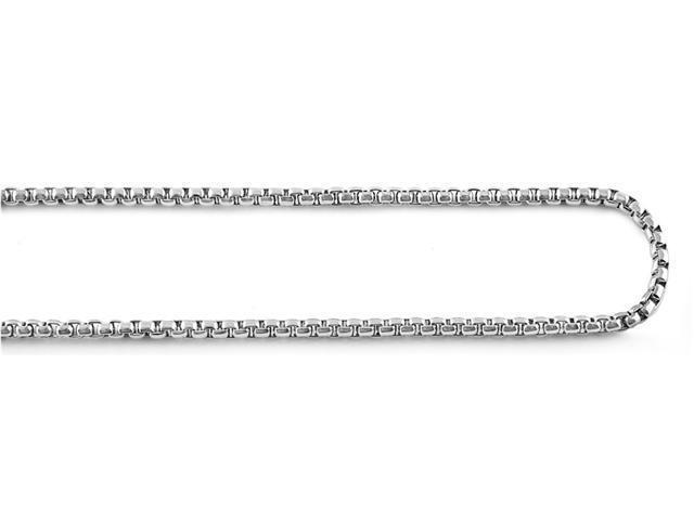 Steel Round Box Chain Necklace