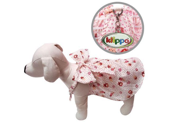 Adorable Dog Sundress with Large Bow and Fun Animal Prints - L