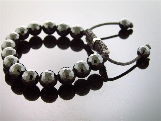 New Ladies Sterling Silver Grooved Bead Small Bracelet
