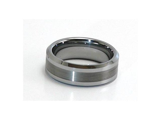 Tungsten Carbide Ring, Satin Finish on the Inside, Comfort Fit