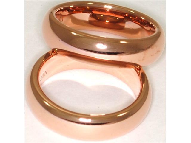 Rose Gold plated, 5.5mm Tungsten Carbide Domed Ring