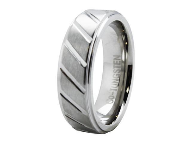 Grooved Superior Cobalt Ring w/ Step Down Edge