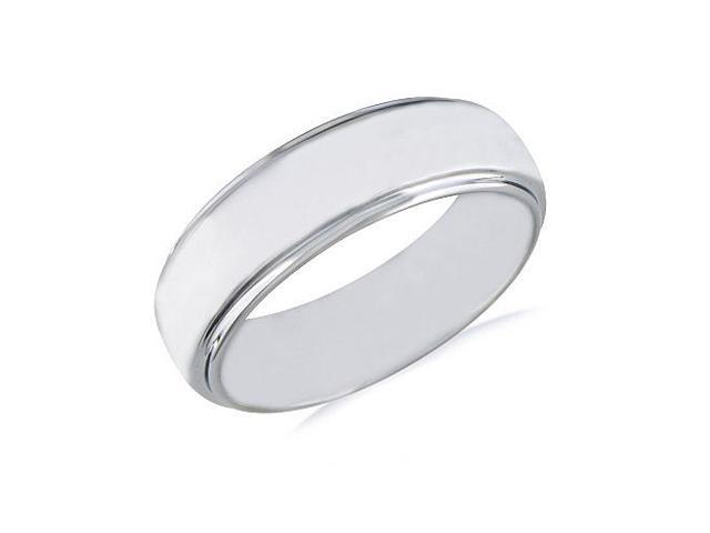7mm Tungsten Band with Raised Shiny Center