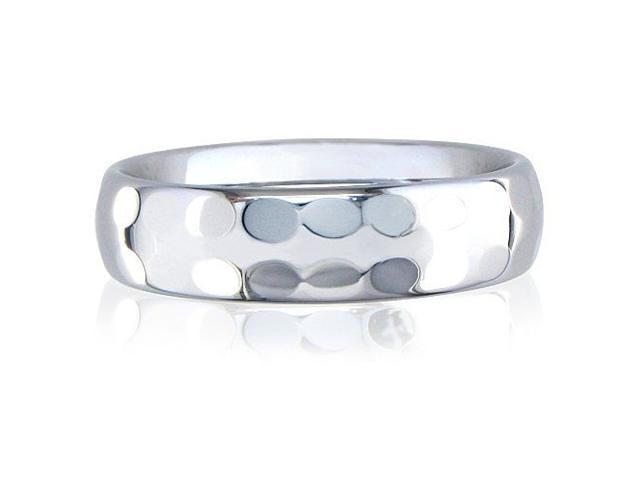 6mm Hammered Tungsten Weddng Band Ring
