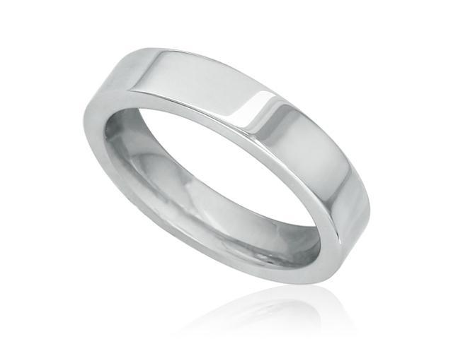 SuperJeweler TR10-10.5 4mm Flat Tungsten Wedding Band (Available Ring Size 4 to 13)
