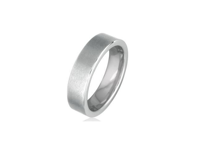 Comfort Fit Flat 6mm Brushed Tungsten Wedding Band (Ring Sizes 8 to 12.5)