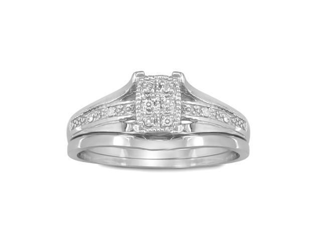Fantastic Low Priced Diamond Bridal Wedding Set in Sterling Silver
