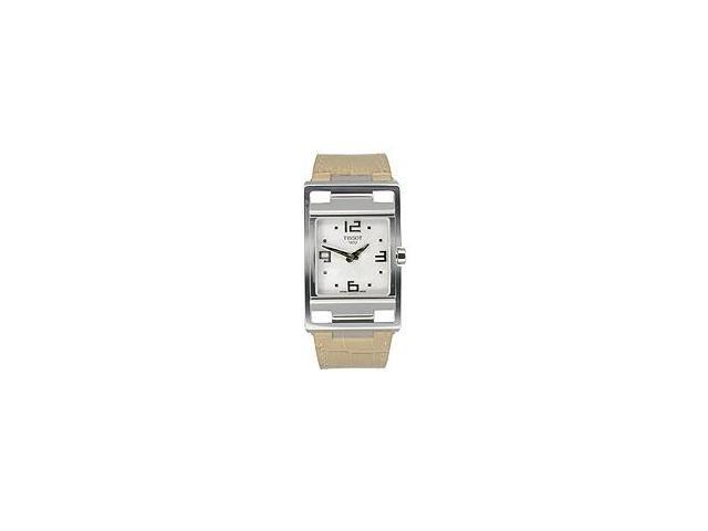 Tissot My-T Light Brown Leather Silver Dial Women's Watch #T032.309.16.037.00