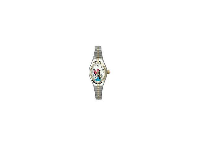 Disney Minnie Mouse Two-tone Expansion White Dial Women's watch #MCK625