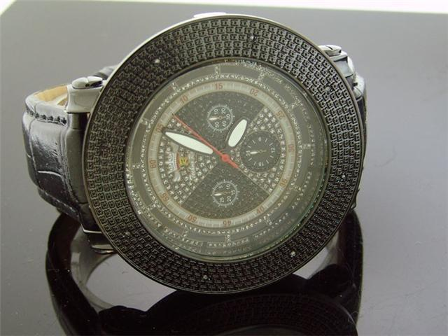 Mens Techno Royale JUMBO 57MM Bezel W/ 8 Diamonds Watch