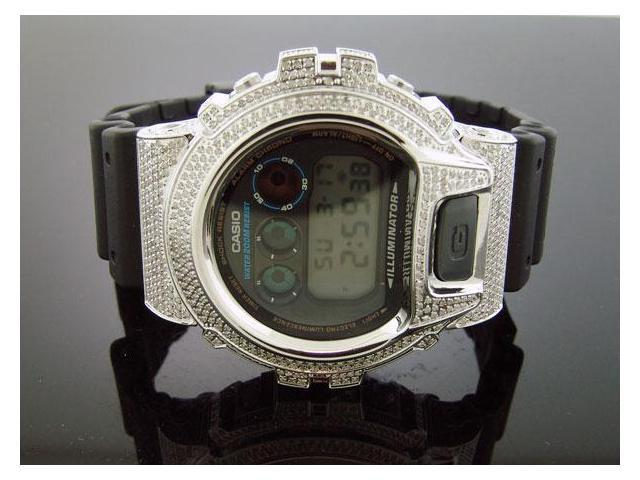Casio G Shock 4.50Ct Full Case White 659 diamonds Watch