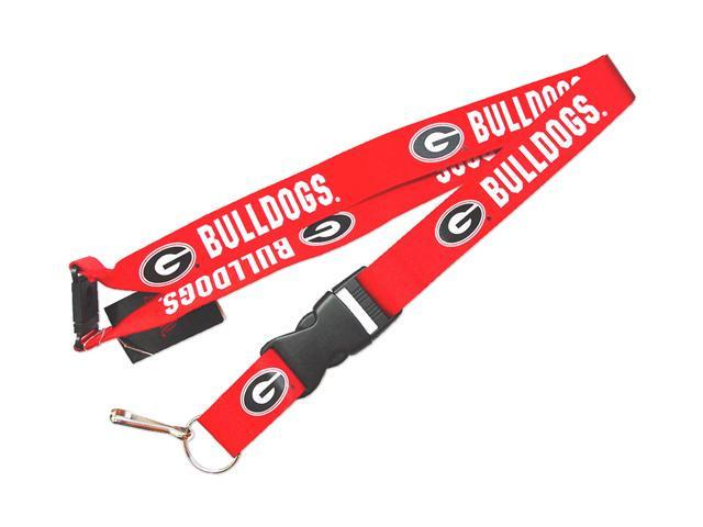 Georgia Bulldogs Clip Lanyard Keychain Id Holder Ticket