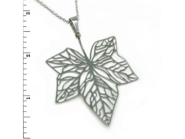 Stainless Steel Ladies Maple Leaf Pendant