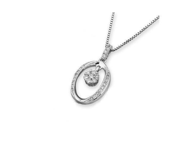 18K White Gold Round Diamond Character