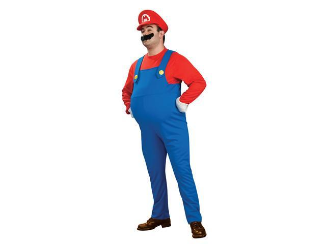 Super Mario Bros. Deluxe Mario Adult Costume