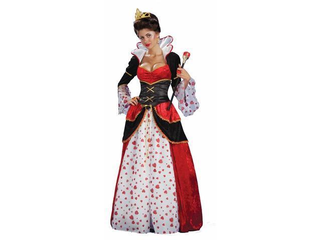Alice In Wonderland Queen Of Hearts Costume Adult Standard