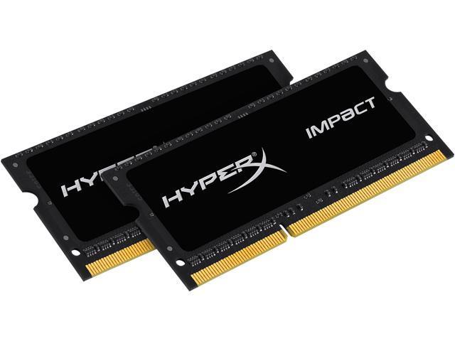 HyperX Impact 16GB (2 x 8G) 204-Pin DDR3 SO-DIMM DDR3L 2133 (PC3L 17000) Laptop Memory Kit Model HX321LS11IB2K2/16