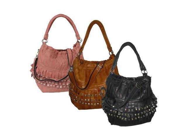 Studded Tutu Leather Handbag (#1720-1)