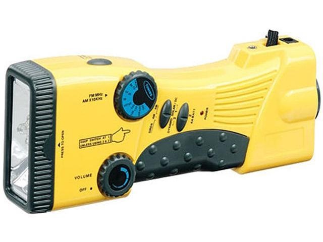 Stansport Hand Crank/Solar Battery Radio/Flashlight - AA