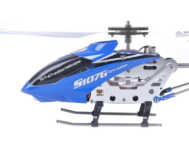 Syma 3 Channel S107 / S107G Mini Indoor Metal Frame Helicopter - Blue Color