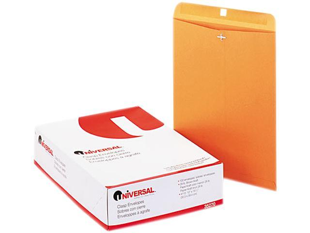 Universal 35270 Kraft Clasp Envelope  Side Seam  28lb  12 x 15 1/2  Light Brown  100/box