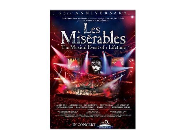 Les Miserables: 25th Anniversary (DVD) Alfie Boe, Norm Lewis, Nick Jonas, Katie Hall, Matt Lucas