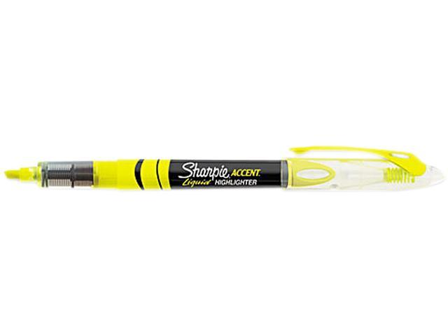 Sanford Ink Corporation SAN1754463 Liquid Highlighter- Micro Chisel Point- Fluorescent Yellow
