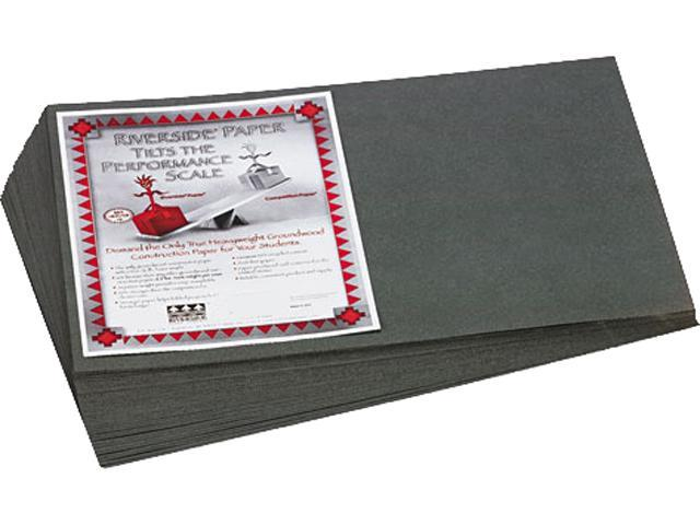 Pacon 103633 Riverside Construction Paper- 76 lbs.- 12 x 18- Slate Gray- 50 Sheets/Pack