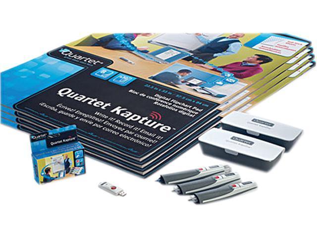 Quartet 23702 Digital FlipChart Kit, with Digital Pens/Refills, 4 Flipchart Pads, USB Receiver