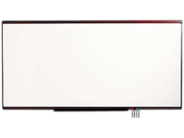 Quartet P558M Premium Dry-Erase Board  Porcelain/Steel  96 x 48  White/Mahogany Frame