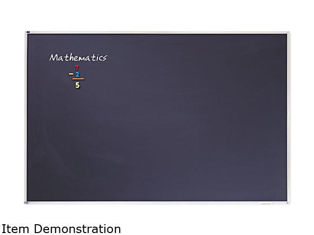 Quartet PCA406B Porcelain Black Chalkboard with Aluminum Frame  54 x 78  Silver