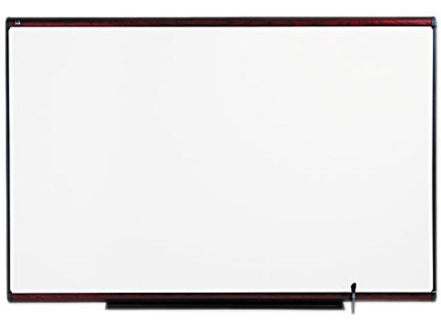 Quartet TE547M Total Erase Marker Board  72 x 48  White  Mahogany Frame