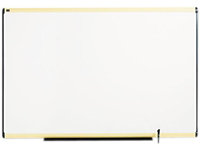 Quartet TE547MA Total Erase Marker Board  72 x 48  White  Maple Frame