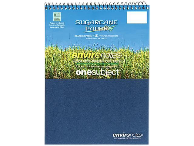 Roaring Spring Paper Products 13363 Earthtones One Subject Sugarcane Notebook - 24 Per Case