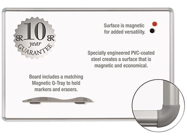 Magne-Rite Magnetic Dry Erase Board 72 x 48 White Silver Frame