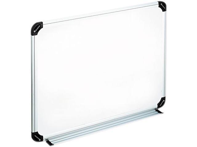 Universal 43722 Dry Erase Board  Melamine  24 x 18  White  Black/Gray  Aluminum/Plastic Frame