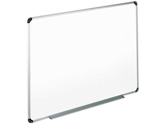 Universal 43723 Dry Erase Board  Melamine  36 x 24  White  Black/Gray Aluminum/Plastic Frame