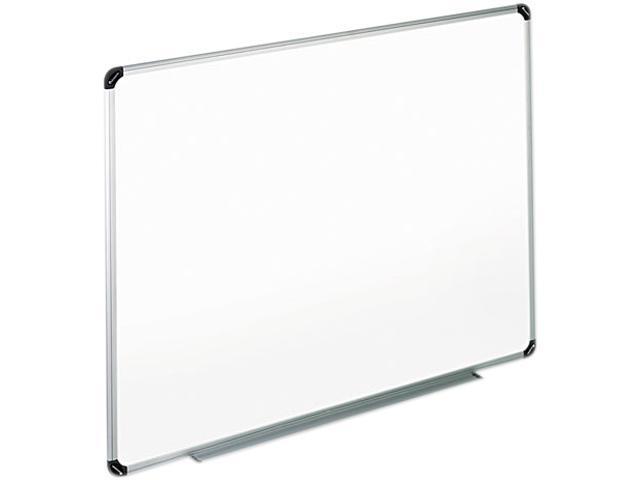 Universal 43725 Dry Erase Board  Melamine  72 x 48  White  Black/Gray Aluminum/Plastic Frame